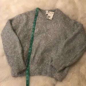 NWT H&M fuzzy sparkly sweater